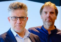 CAPTION: Parkius CEO Arthur van Wijck Jurriaanse (left) and Redora CEO Paul van der Weijde