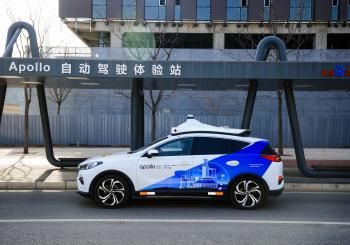Baidu Apollo robotaxi Beijing China 5G Remote Driving Service