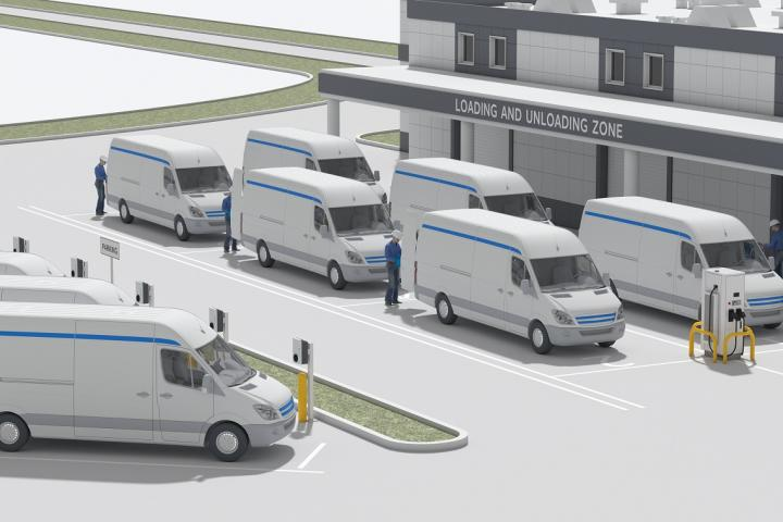 ABB Amazon Web Services fleet management EVs Berlin